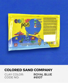 Royal Blue #6107 Color Plus Air Dry Modeling Clay 1.1 lb (500 g)