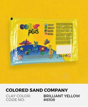 Brilliant Yellow #6108 Color Plus Air Dry Modeling Clay 1.1 lb (500 g)