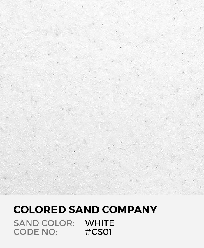 White #CS01 Classic Colored Sand Art Material
