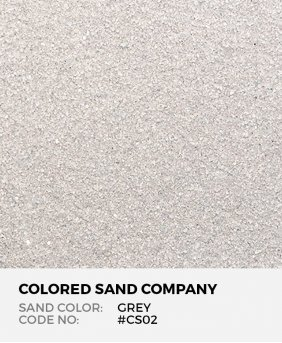 Grey #CS02 Classic Colored Sand Art Material