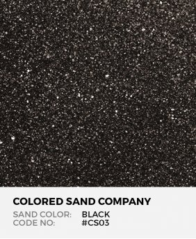 Black #CS03 Classic Colored Sand Art Material