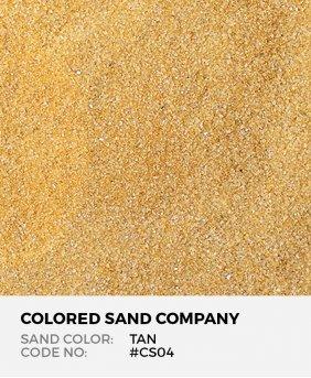 Tan #CS04 Classic Colored Sand Art Material