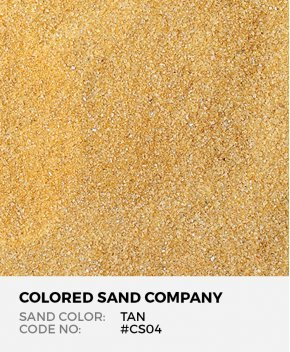 Tan #CS04 Classic Colored Sand Art Material