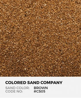 Brown #CS05 Classic Colored Sand Art Material
