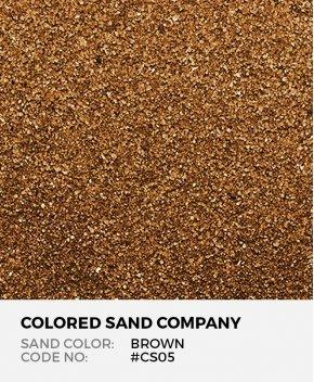 Brown #CS05 Classic Colored Sand Art Material