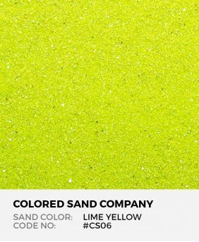 Lime Yellow #CS06 Classic Colored Sand Art Material