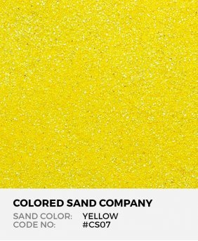 Yellow #CS07 Classic Colored Sand Art Material