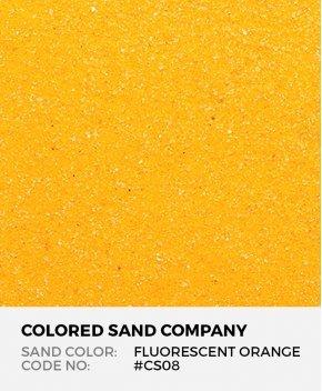 Fluorescent Orange #CS08 Classic Colored Sand Art Material