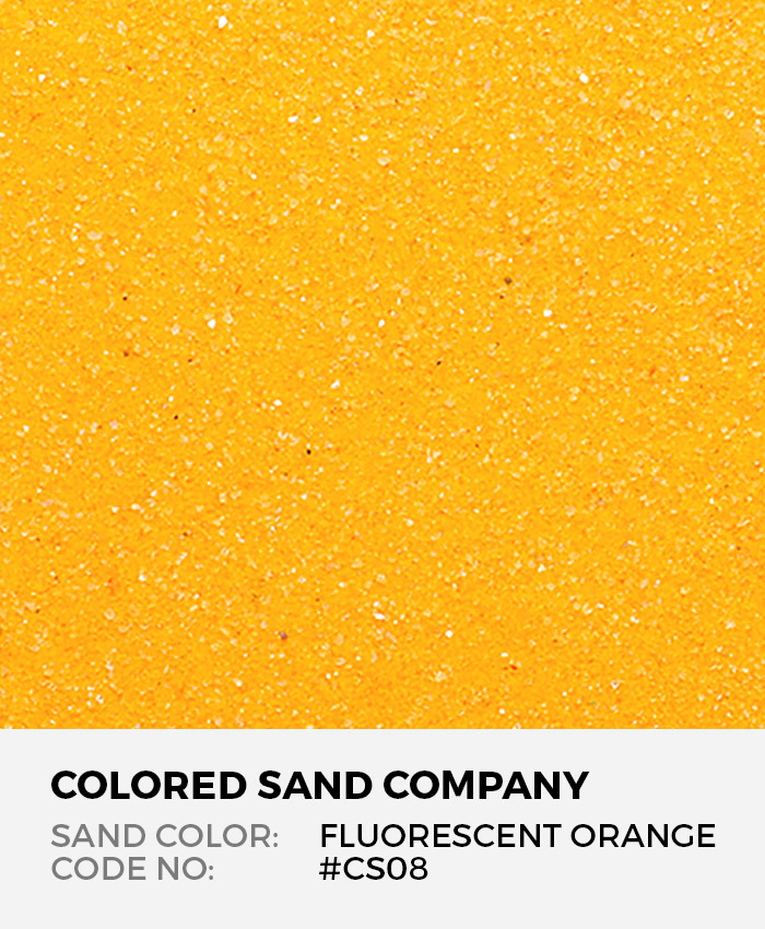 Fluorescent Orange #CS08 Classic Colored Sand Art Material