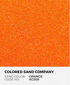 Orange #CS09 Classic Colored Sand Art Material