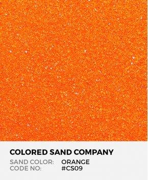 Orange #CS09 Classic Colored Sand Art Material