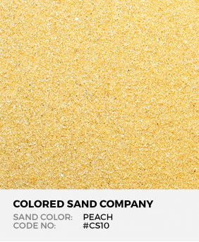 Peach #CS10 Classic Colored Sand Art Material