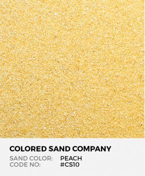 Peach #CS10 Classic Colored Sand Art Material