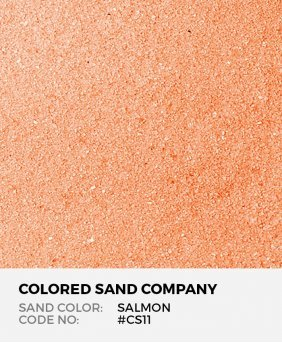 Salmon #CS11 Classic Colored Sand Art Material