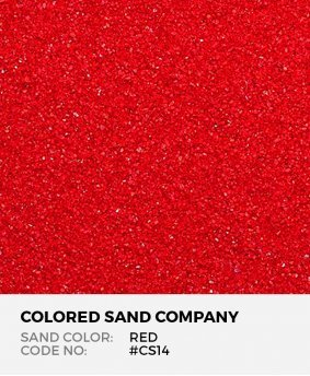 Red #CS14 Classic Colored Sand Art Material