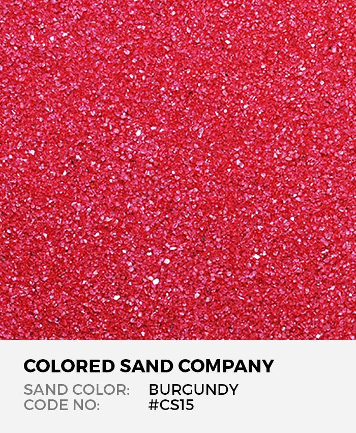 Burgundy #CS15 Classic Colored Sand Art Material