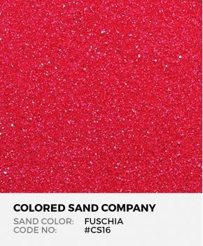 Fuschia #CS16 Classic Colored Sand Art Material