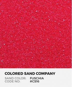 Fuschia #CS16 Classic Colored Sand Art Material