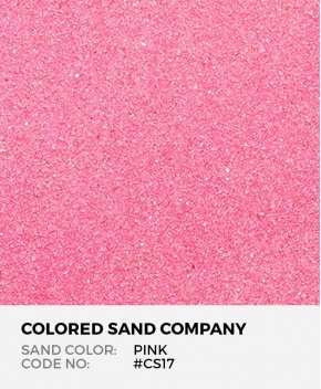 Pink #CS17 Classic Colored Sand Art Material