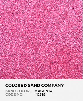 Magenta #CS18 Classic Colored Sand Art Material
