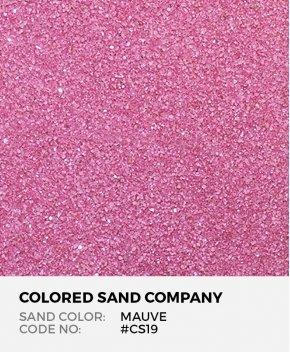 Mauve #CS19 Classic Colored Sand Art Material
