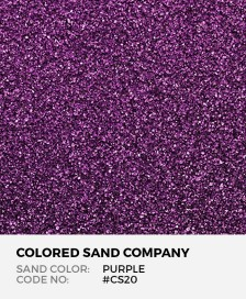 Purple #CS20 Classic Colored Sand Art Material