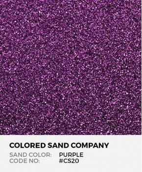 Purple #CS20 Classic Colored Sand Art Material