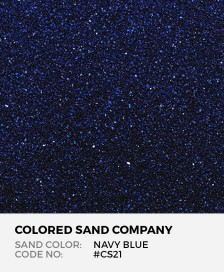 Navy Blue #CS21 Classic Colored Sand Art Material