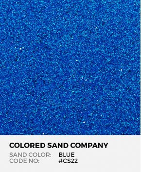 Blue #CS22 Classic Colored Sand Art Material