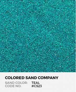 Teal #CS23 Classic Colored Sand Art Material