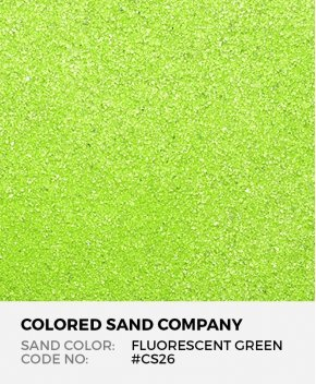 Fluorescent Green #CS26 Classic Colored Sand Art Material