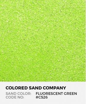 Fluorescent Green #CS26 Classic Colored Sand Art Material