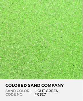 Light Green #CS27 Classic Colored Sand Art Material