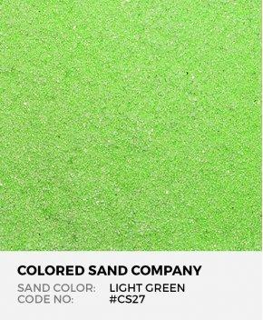Light Green #CS27 Classic Colored Sand Art Material