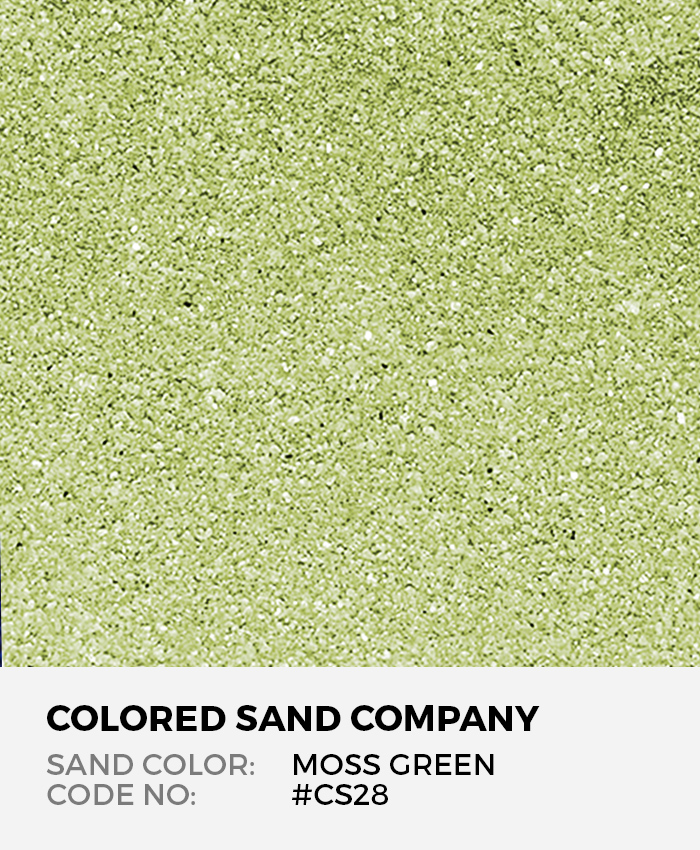 Moss Green #CS28 Classic Colored Sand Art Material