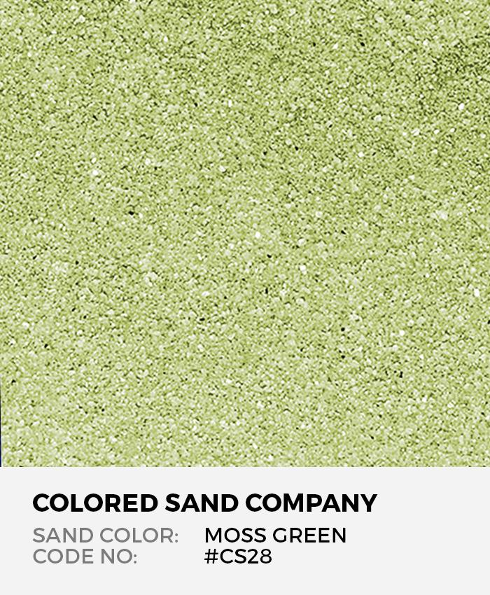 Moss Green #CS28 Classic Colored Sand Art Material