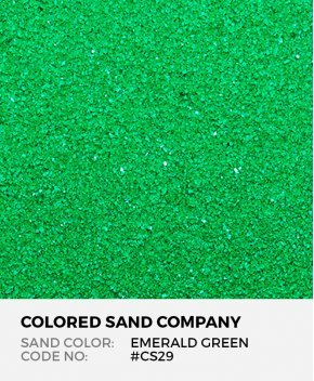 Emerald Green #CS29 Classic Colored Sand Art Material