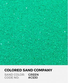 Green #CS30 Classic Colored Sand Art Material
