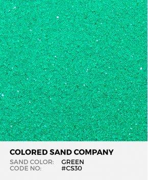 Green #CS30 Classic Colored Sand Art Material