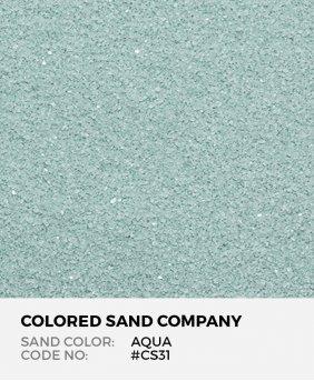 Aqua #CS31 Classic Colored Sand Art Material