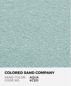 Aqua #CS31 Classic Colored Sand Art Material