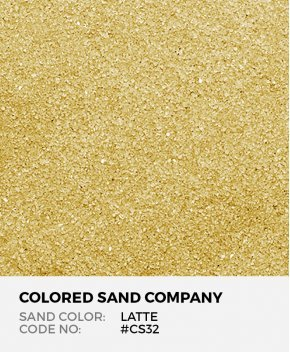 Latte #CS32 Classic Colored Sand Art Material