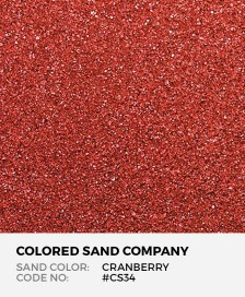 Cranberry #CS34 Classic Colored Sand Art Material