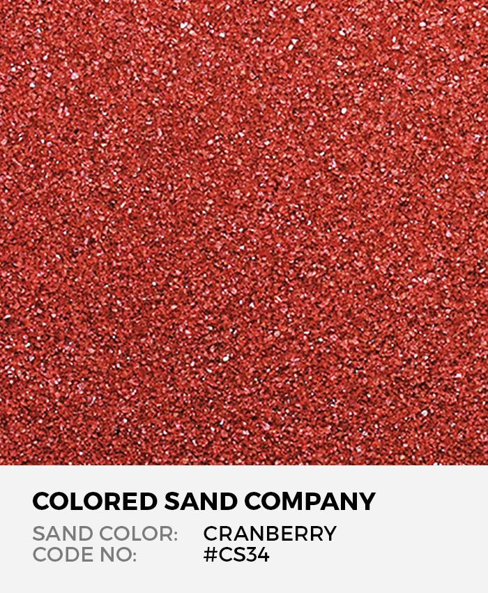 Cranberry #CS34 Classic Colored Sand Art Material