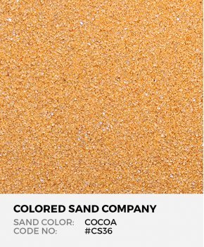 Cocoa #CS36 Classic Colored Sand Art Material