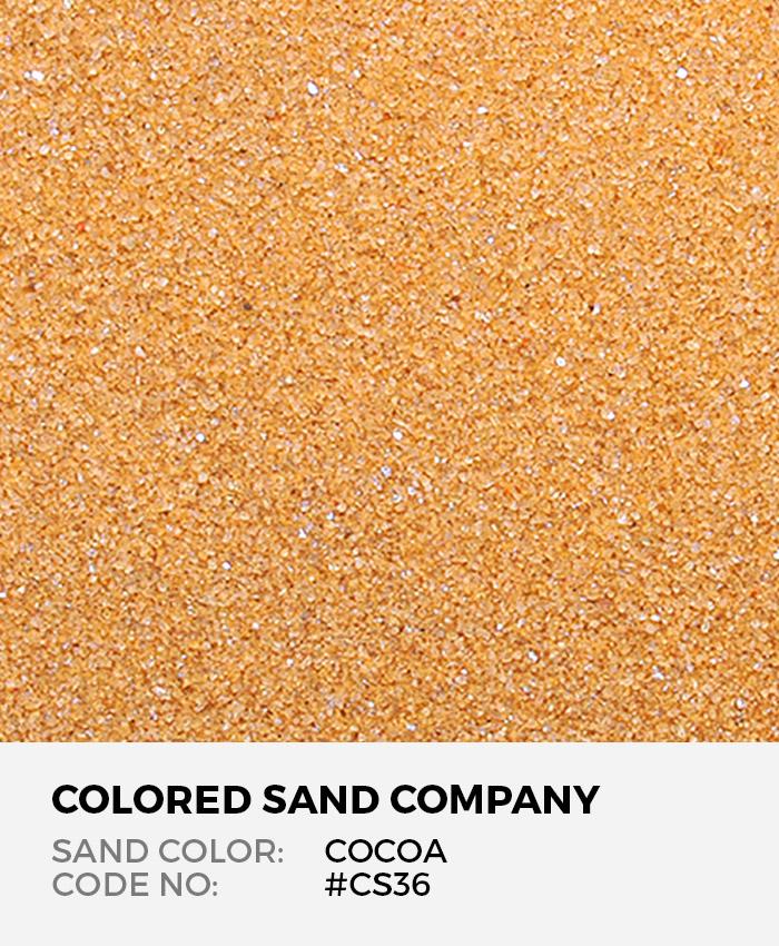 Cocoa #CS36 Classic Colored Sand Art Material
