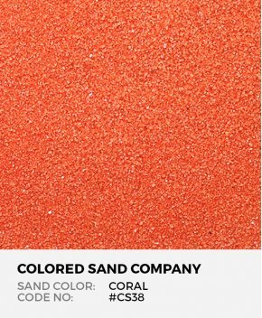 Coral #CS38 Classic Colored Sand Art Material