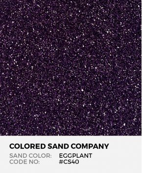 Eggplant #CS40 Classic Colored Sand Art Material