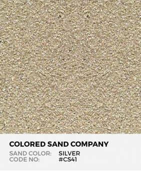 Silver #CS41 Classic Colored Sand Art Material