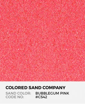 Bubblegum Pink #CS42 Classic Colored Sand Art Material